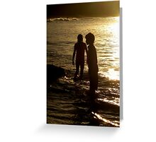 Silhoette at Sunset Greeting Card