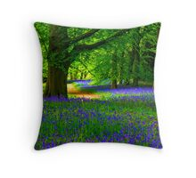 Bluebell Wood - Thorpe Perrow #3 Throw Pillow