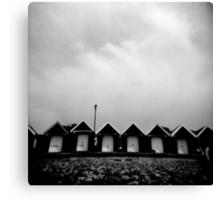 holga beach huts Canvas Print