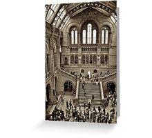 London Natural History Museum Greeting Card