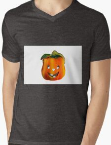 Halloween Pumpkin Mens V-Neck T-Shirt