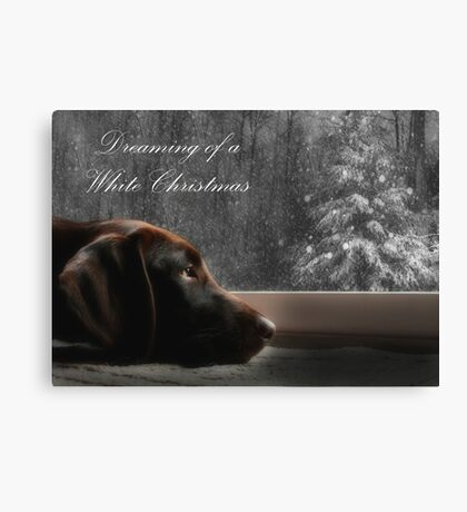 Dreaming of A White Christmas - Card Canvas Print
