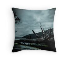 Ghost Surfers Cove Throw Pillow