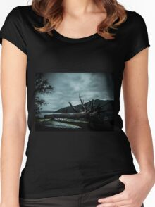 Ghost Surfers Cove Women's Fitted Scoop T-Shirt