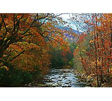 AUTUMN ON LITTLE RIVER Photographic Print
