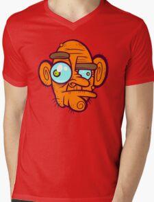 Old Poker Face Mens V-Neck T-Shirt