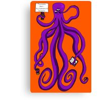 Protest Octopus Canvas Print