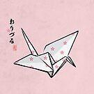 折鶴  Crane (Pink sakura) by 73553