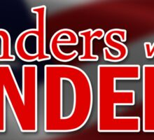 Standers with Sanders (flag) Sticker