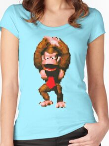 Donkey Kong Country - Cheer Women's Fitted Scoop T-Shirt