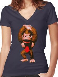 Donkey Kong Country - Cheer Women's Fitted V-Neck T-Shirt