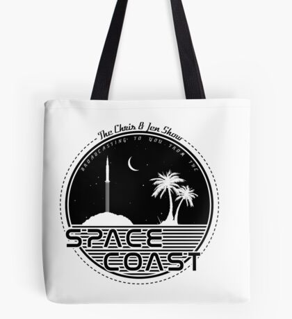 Chris and Jen Show - Space Coast - Black Tote Bag
