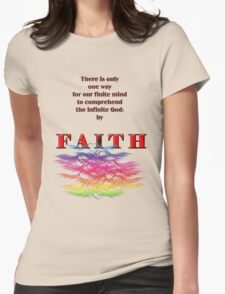 By Faith Womens Fitted T-Shirt