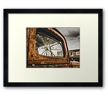 Retro Rusty Truck And Bar Framed Print