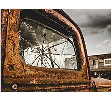 Retro Rusty Truck And Bar Photographic Print