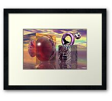 Raven in a magical world Framed Print