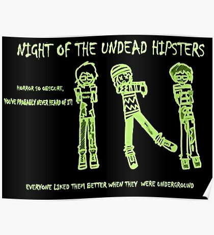 Night of the Undead Hipsters Poster