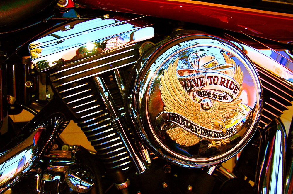 Live To Ride, Ride To Live - Harley-Davidson® by Raoul Isidro