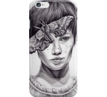 Girl with Moth iPhone Case/Skin