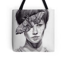 Girl with Moth Tote Bag
