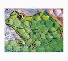 Frog funny textured colorful frog Kids Tee