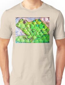 Frog funny textured colorful frog Unisex T-Shirt