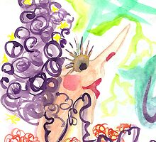 lady grape hair by Soxy Fleming