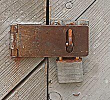 Rusty Padlock by Monnie Ryan