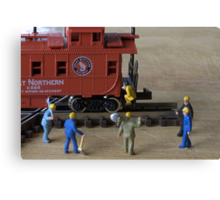 Kalli, the owner of the train was a fitness guru. The track workers agreed she had a great caboose Canvas Print