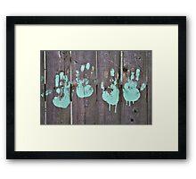 Childs Hand Print Framed Print