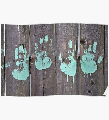 Childs Hand Print Poster