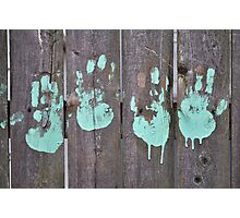 Childs Hand Print Photographic Print