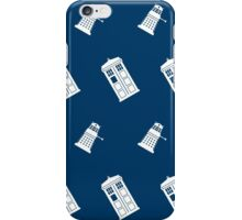 TARDIS and Dalek infinity pattern iPhone Case/Skin
