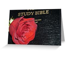 A Rose And The Bible Greeting Card