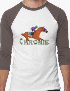 California Chrome Chromie  Men's Baseball ¾ T-Shirt