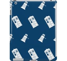 TARDIS and Dalek infinity pattern iPad Case/Skin