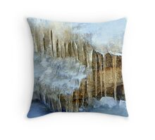 """Icy Conditions"" Throw Pillow"