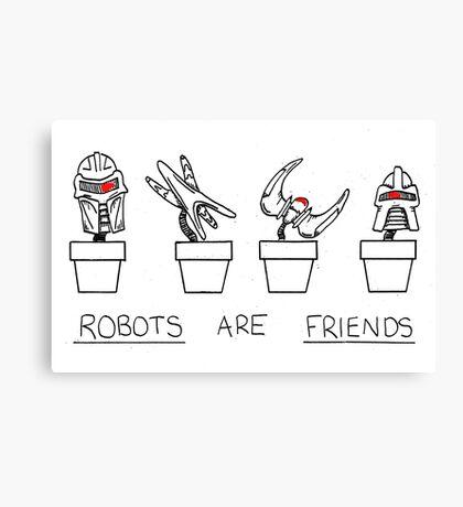 Robots Are Friends Canvas Print