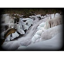 Upper Falls Ice Flow  Photographic Print