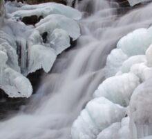 Upper Falls Ice Flow  Sticker