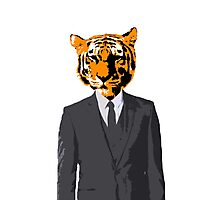 Tiger Businessman Photographic Print