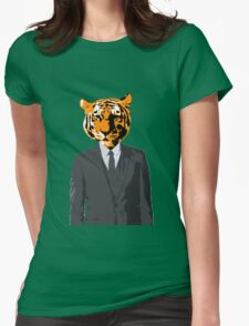 Tiger Businessman Womens Fitted T-Shirt