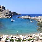 St.Paul's Bay, Lindos by Mike Paget
