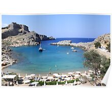 St.Paul's Bay, Lindos Poster