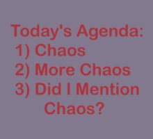 Today's Agenda: Chaos Kids Clothes