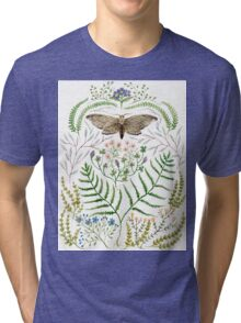 Moth with Plants II Tri-blend T-Shirt