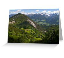 Alpine Landscape Greeting Card