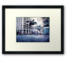 City of whales Framed Print