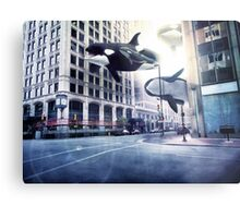 City of whales Metal Print