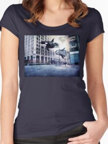 City of whales Women's Fitted Scoop T-Shirt